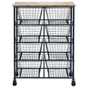 UMA Enterprises, Inc. Accent Furniture Metal/Wood Storage Cart
