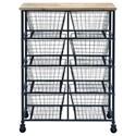UMA Enterprises, Inc. Accent Furniture Metal/Wood Storage Cart - Item Number: 50205