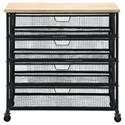 UMA Enterprises, Inc. Accent Furniture Metal/Wood Storage Cart - Item Number: 50265