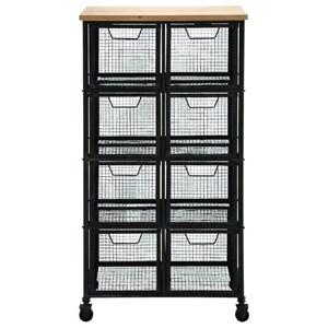 UMA Enterprises, Inc. Accent Furniture Metal/Wood Tall Storage Cart