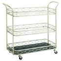 UMA Enterprises, Inc. Accent Furniture Metal/Mirror 3 Tier Bar Cart - Item Number: 50381