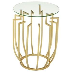 UMA Enterprises, Inc. Accent Furniture Metal/Glass Accent Table