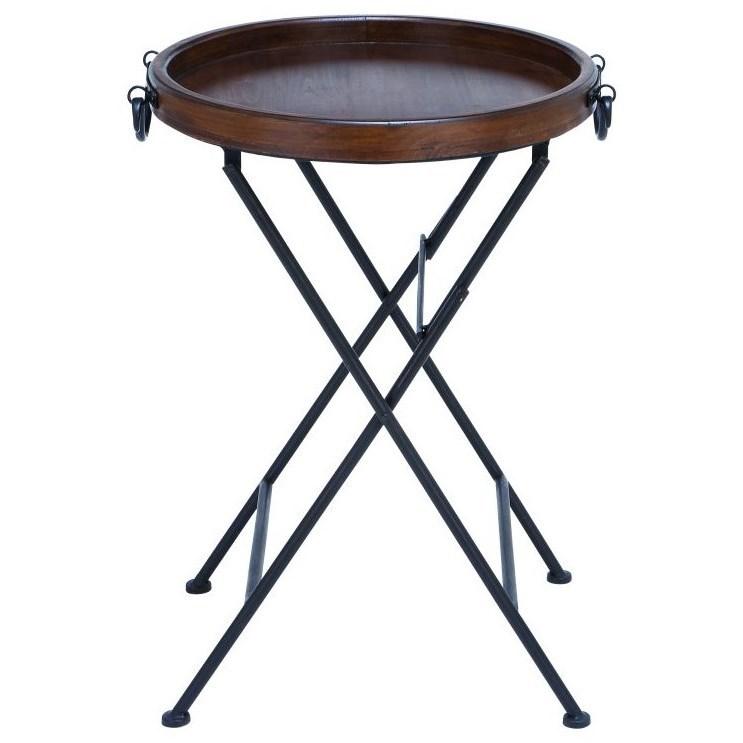 Metal/Wood Tray Table