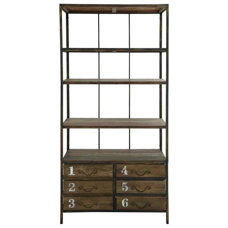 Wood Shelf With Drawers