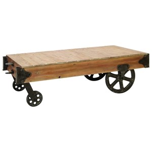 UMA Enterprises, Inc. Accent Furniture Wood/Metal Coffee Table Cart