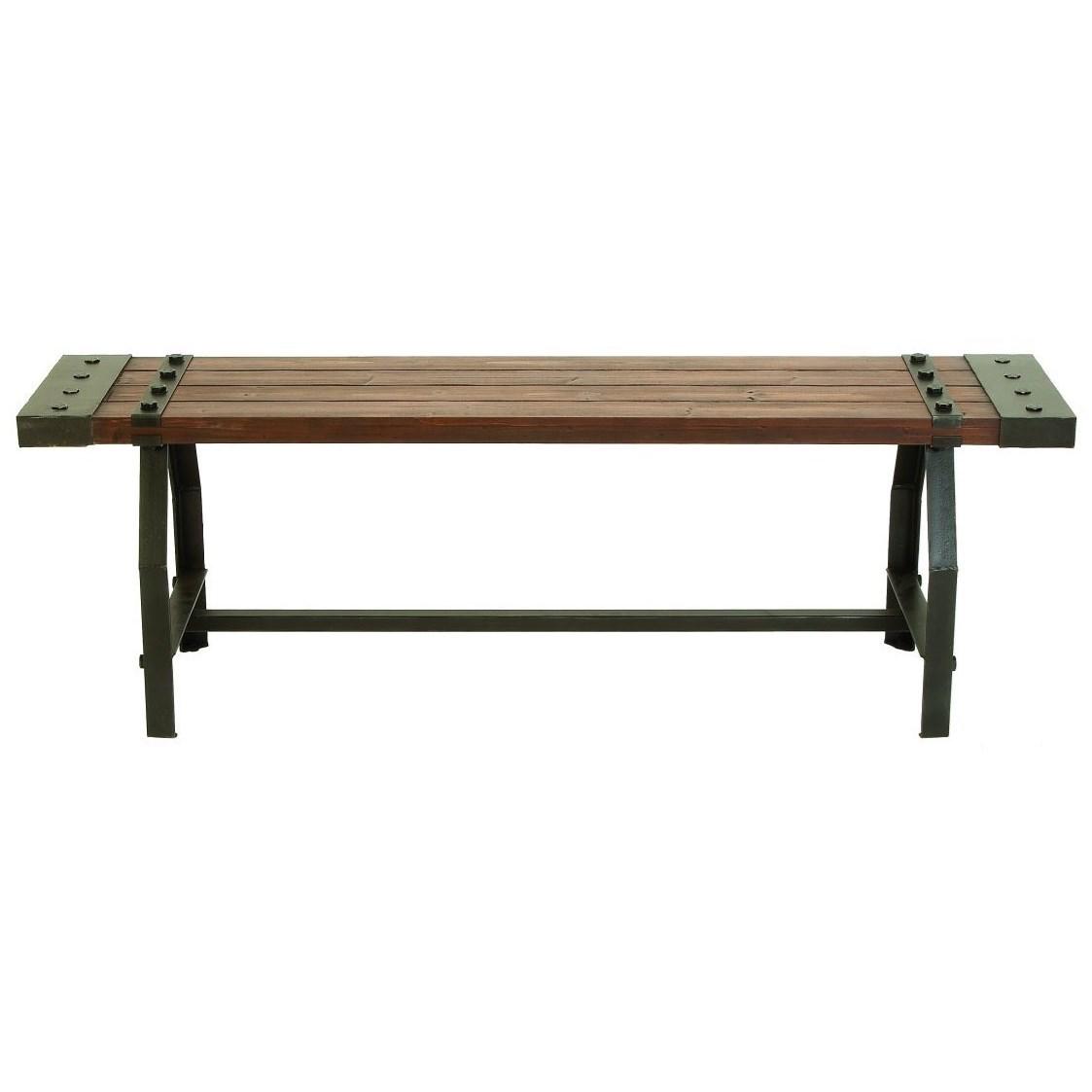 Excellent Wood Metal Bench Accent Furniture By Uma Enterprises Inc Inzonedesignstudio Interior Chair Design Inzonedesignstudiocom