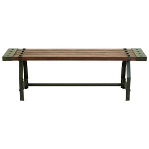 UMA Enterprises, Inc. Accent Furniture Wood/Metal Bench