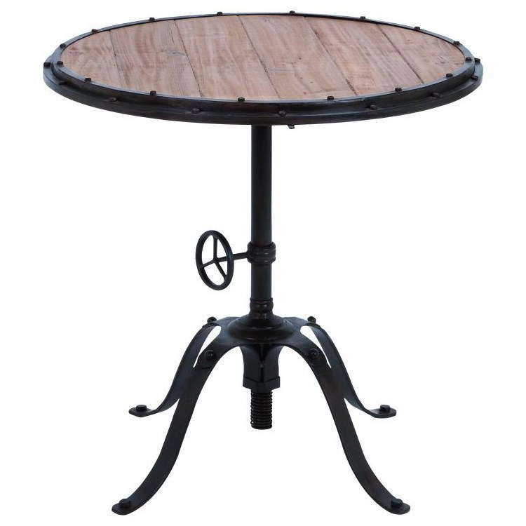 Accent Furniture Metal/Wood Round Table by UMA Enterprises, Inc. at Wilcox Furniture