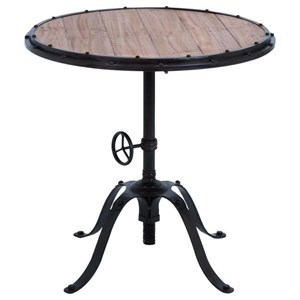 Tables By Uma Enterprises Inc Metal Wood Round Table