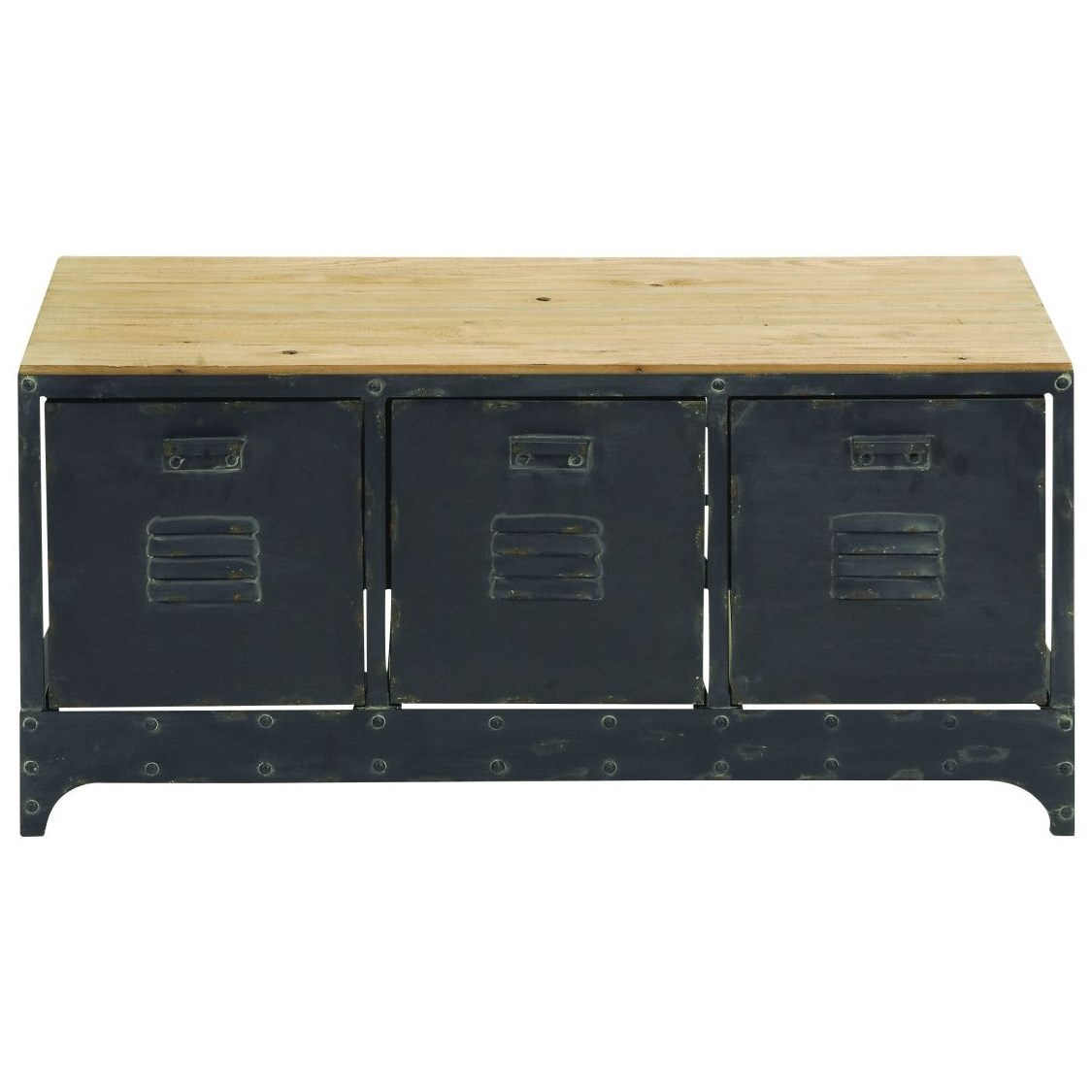Wood/Metal Storage Bench
