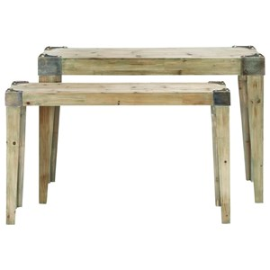Wood Console Tables, Set of 2