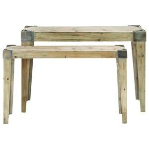 UMA Enterprises, Inc. Accent Furniture Wood Console Tables, Set of 2