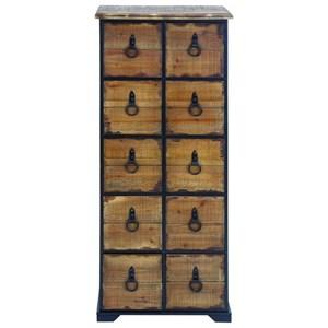 UMA Enterprises, Inc. Accent Furniture Wood Look/Metal Chest