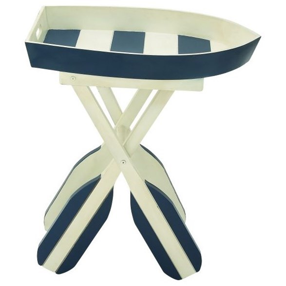 Accent Furniture Wood Boat Accent Table by UMA Enterprises, Inc. at Wilcox Furniture