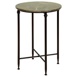 UMA Enterprises, Inc. Accent Furniture Metal Marble Accent Table