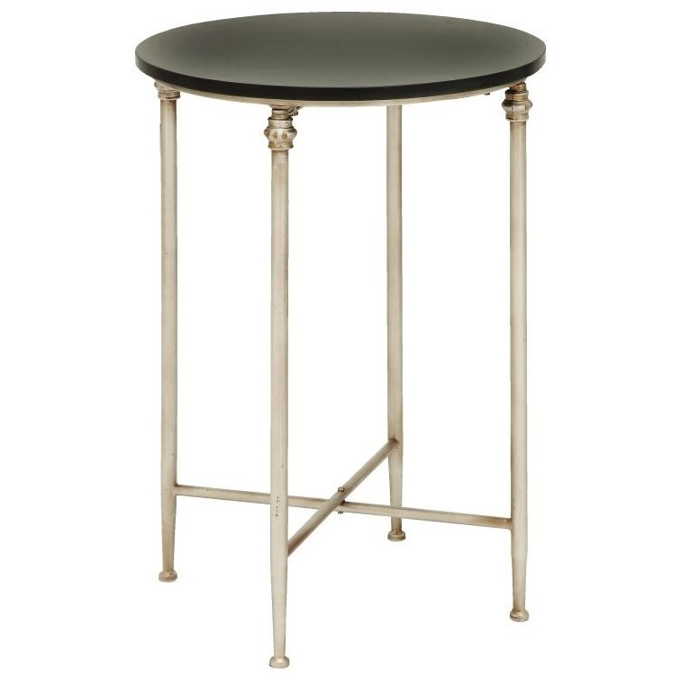 Metal/Marble Accent Table
