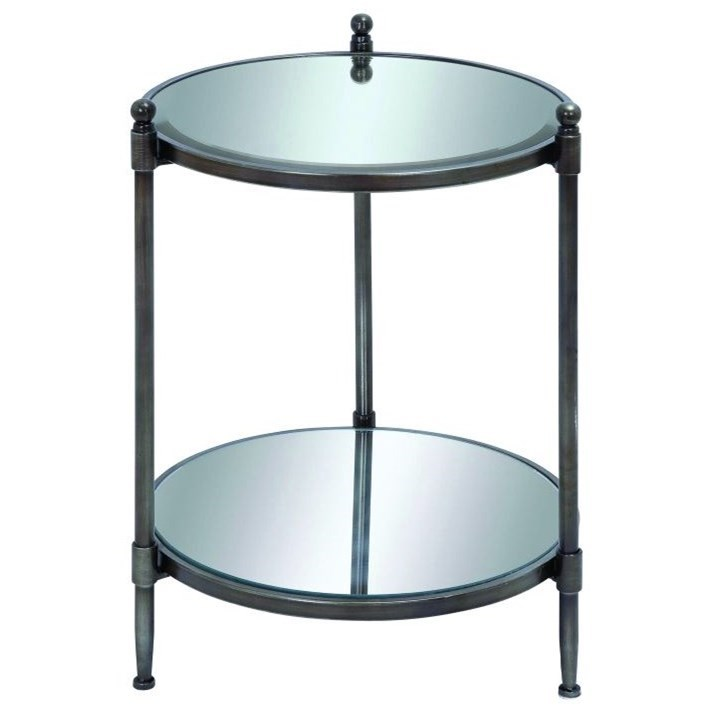 Metal Mirror Accent Table