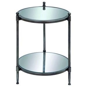 UMA Enterprises, Inc. Accent Furniture Metal Mirror Accent Table