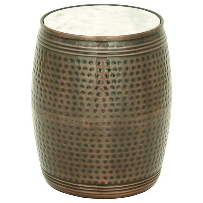 Accent Furniture Metal Marble Side Table by UMA Enterprises, Inc. at Wilcox Furniture