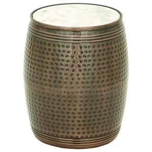 UMA Enterprises, Inc. Accent Furniture Metal Marble Side Table