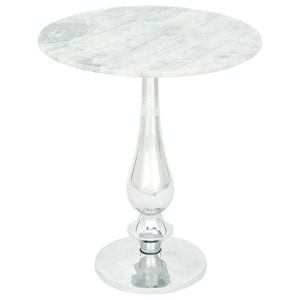 UMA Enterprises, Inc. Accent Furniture Aluminum Marble Accent Table
