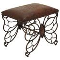 UMA Enterprises, Inc. Accent Furniture Metal/Faux Leather Stool - Item Number: 54302