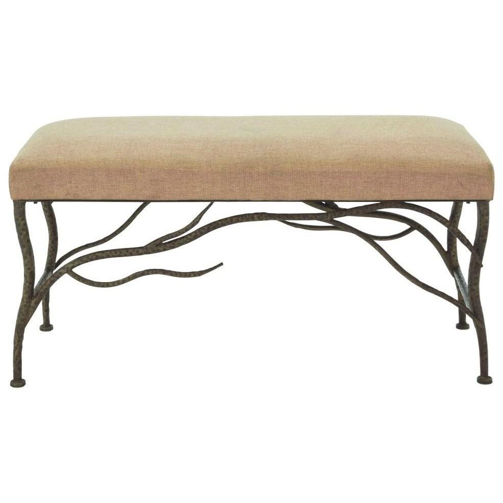 Metal Fabric Bench