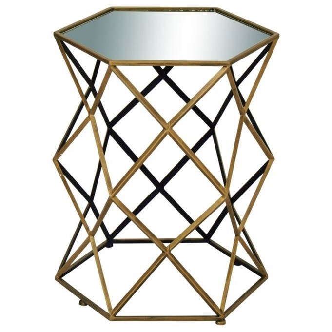 Accent Furniture Metal/Mirror Accent Table by UMA Enterprises, Inc. at Wilcox Furniture