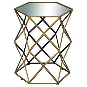 UMA Enterprises, Inc. Accent Furniture Metal/Mirror Accent Table