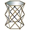 UMA Enterprises, Inc. Accent Furniture Metal/Mirror Accent Table - Item Number: 54350