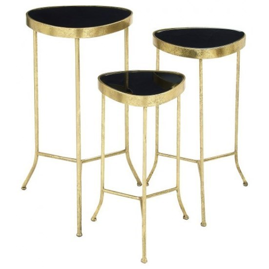 Accent Furniture Metal/Glass Accent Tables, Set of 3 by UMA Enterprises, Inc. at Wilcox Furniture