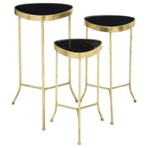 UMA Enterprises, Inc. Accent Furniture Metal/Glass Accent Tables, Set of 3