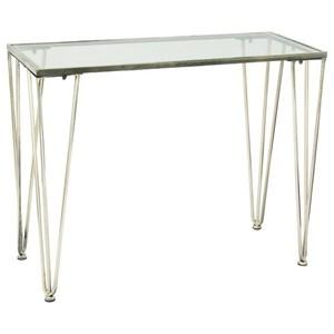 UMA Enterprises, Inc. Accent Furniture Metal/Glass Silver Console Table