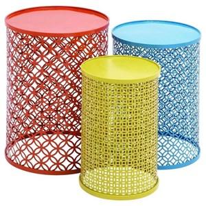 UMA Enterprises, Inc. Accent Furniture Metal Tables, Set of 3