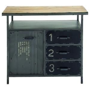 UMA Enterprises, Inc. Accent Furniture Metal/Wood Utility Cabinet