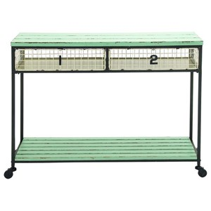 UMA Enterprises, Inc. Accent Furniture Metal/Wood Storage Console