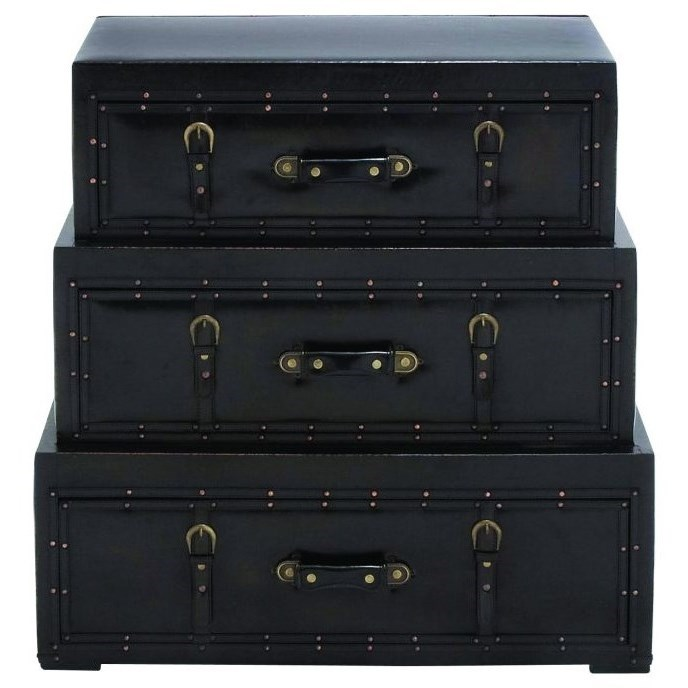 Faux Leather Trunk Chest