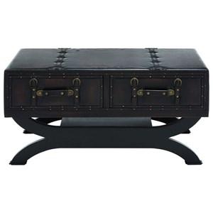 UMA Enterprises, Inc. Accent Furniture Faux Leather Coffee Table