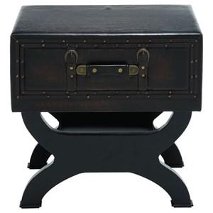 UMA Enterprises, Inc. Accent Furniture Faux Leather End Table