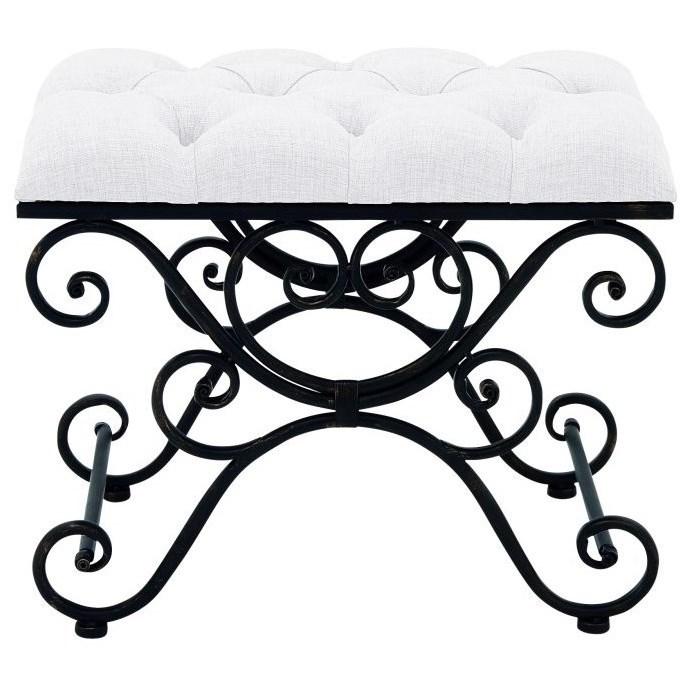 Accent Furniture Metal Fabric Stool by UMA Enterprises, Inc. at Wilcox Furniture