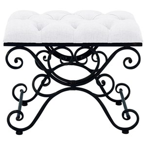 UMA Enterprises, Inc. Accent Furniture Metal Fabric Stool