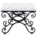UMA Enterprises, Inc. Accent Furniture Metal Fabric Stool - Item Number: 55768