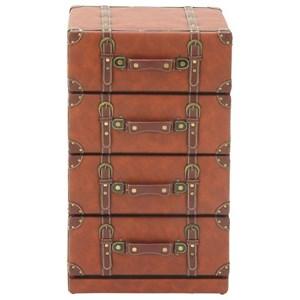 UMA Enterprises, Inc. Accent Furniture Faux Leather 4 Drawer Chest