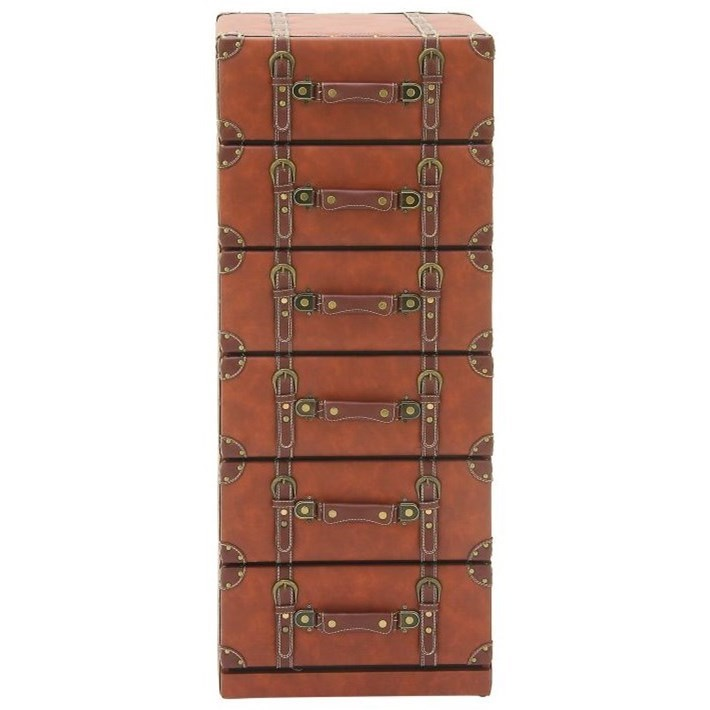 Faux Leather 6 Drawer Chest