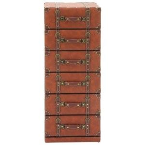 UMA Enterprises, Inc. Accent Furniture Faux Leather 6 Drawer Chest
