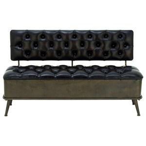UMA Enterprises, Inc. Accent Furniture Metal/Faux Leather Storage Bench