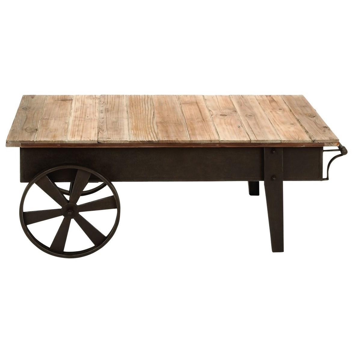 Metal/Wood Coffee Table