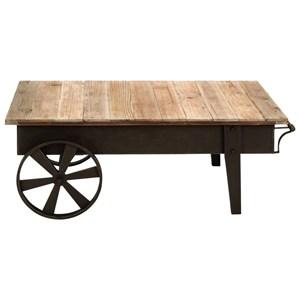UMA Enterprises, Inc. Accent Furniture Metal/Wood Coffee Table
