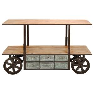 UMA Enterprises, Inc. Accent Furniture Metal/Wood Adjustable Media Cart