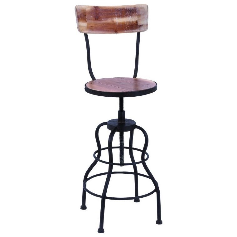 Accent Furniture Metal/Wood Bar Chair by UMA Enterprises, Inc. at Wilcox Furniture